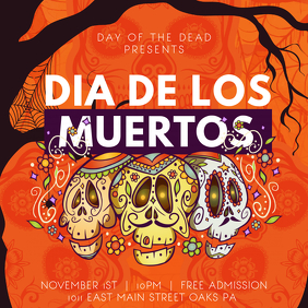 Creative Day of the Dead Invitation Instagram Post Template