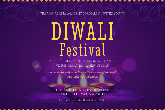 Creative Diwali Event Poster Template