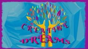 Creative Dreams Cover Art Video Видеообложка профиля Facebook (16:9) template