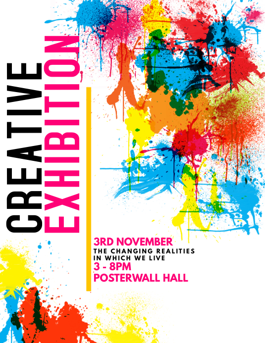 Creative Exhibition Flyer Template
