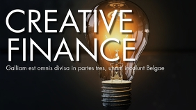 Creative finance youtube thumbnail design