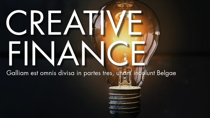 Creative finance youtube thumbnail design YouTube-miniature template