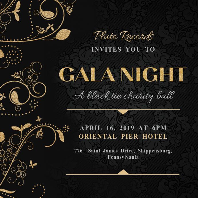 Creative Gala Night Instagram Invitation Template