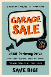 Creative Garage Sale Poster template
