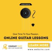 creative guitar lessons advertisement โพสต์บน Instagram template