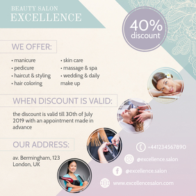 Creative Hair Salon Advertisement Design