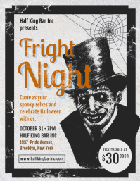 Creative Halloween Party Vintage Poster Template
