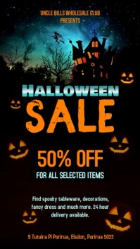 Creative Halloween Sale digital Display Video template