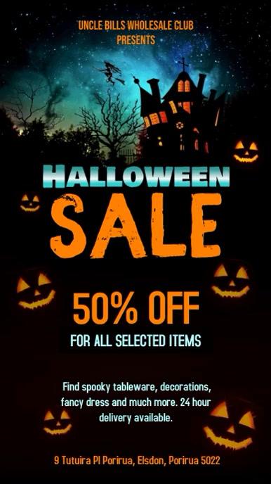 Creative Halloween Sale digital Display Video