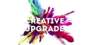 creative header banner color explosion advert Imagen Compartida en Facebook template