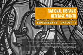 Creative Hispanic Heritage Month Event Poster template