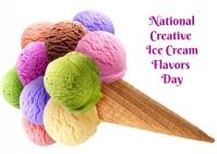 creative ice cream flavors day Postcard template
