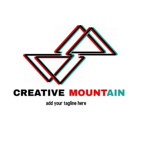 creative iconic mountain inspired minimal log