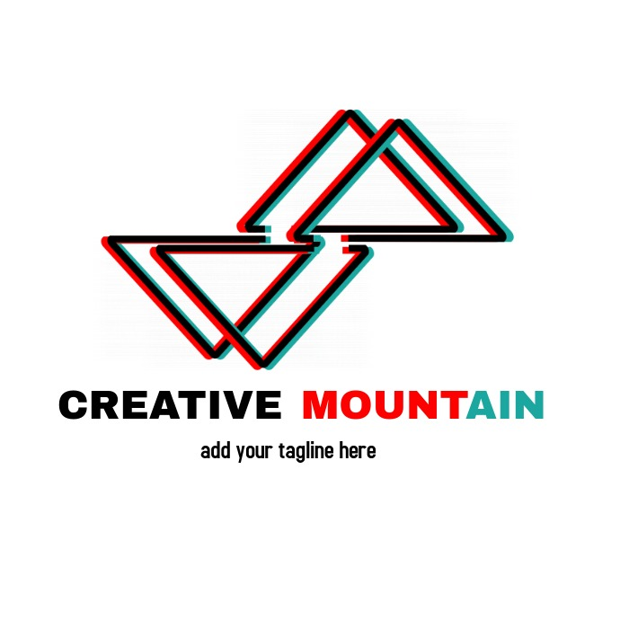 creative iconic mountain inspired minimal log
