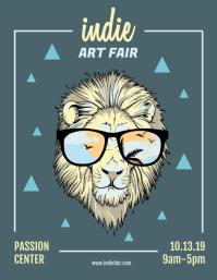 Creative Indie Art Fair Poster Design