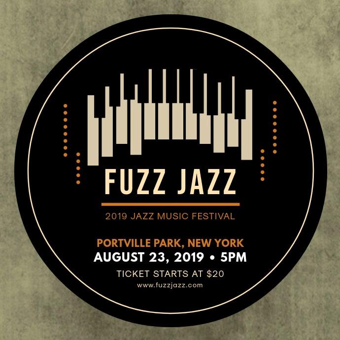 Creative Jazz Music Concert Ad Template