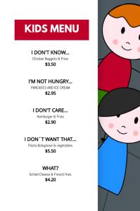 Creative Kids Menu Design Template
