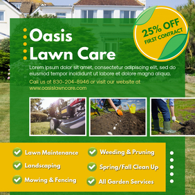 Creative Lawn Care Square Advert