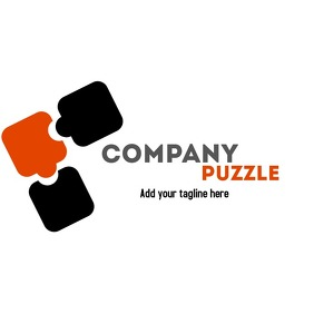Creative logo with puzzle