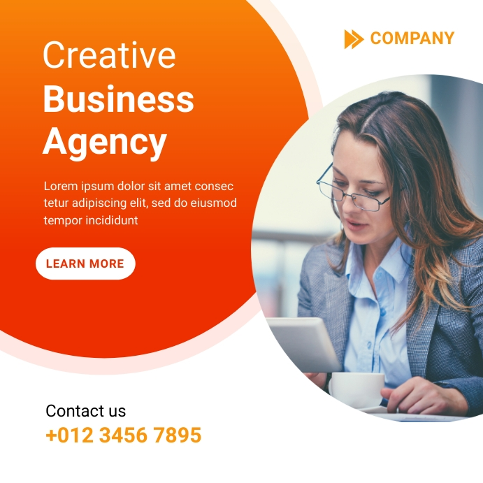 Creative Marketing Agency Template Instagram-opslag