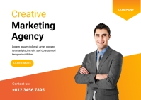 Creative Marketing Agency Template Postkarte