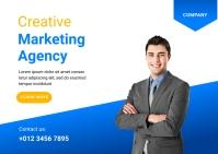 Creative Marketing Agency Template Postcard