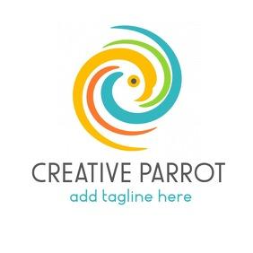 creative parrot icon logo template