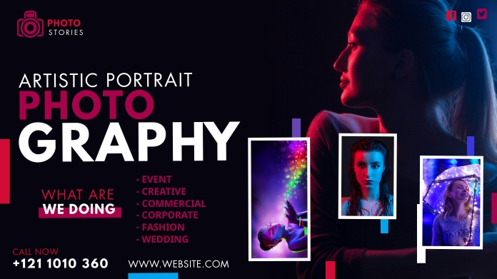 Creative Photography Ad Pos Twitter template