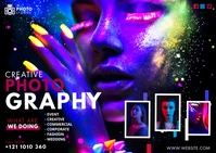 Creative Photography Ad ไปรษณียบัตร template
