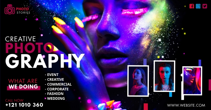 Creative Photography Ad Facebook Shared Image template