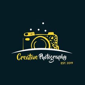 creative photography camera icon logo Logótipo template