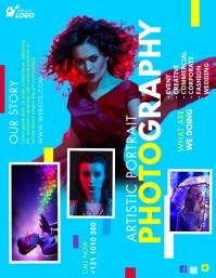 Creative Photography Flyer Folheto (US Letter) template