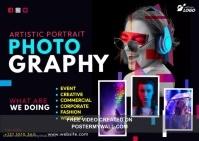Creative Photography Postcard template