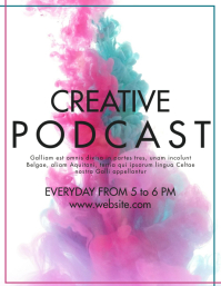 creative podcast advertisement flyer design t template