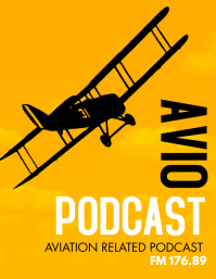 creative podcast aviation themed Pamflet (Letter AS) template