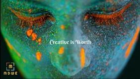 Creative poster templates Видеообложка профиля Facebook (16:9)