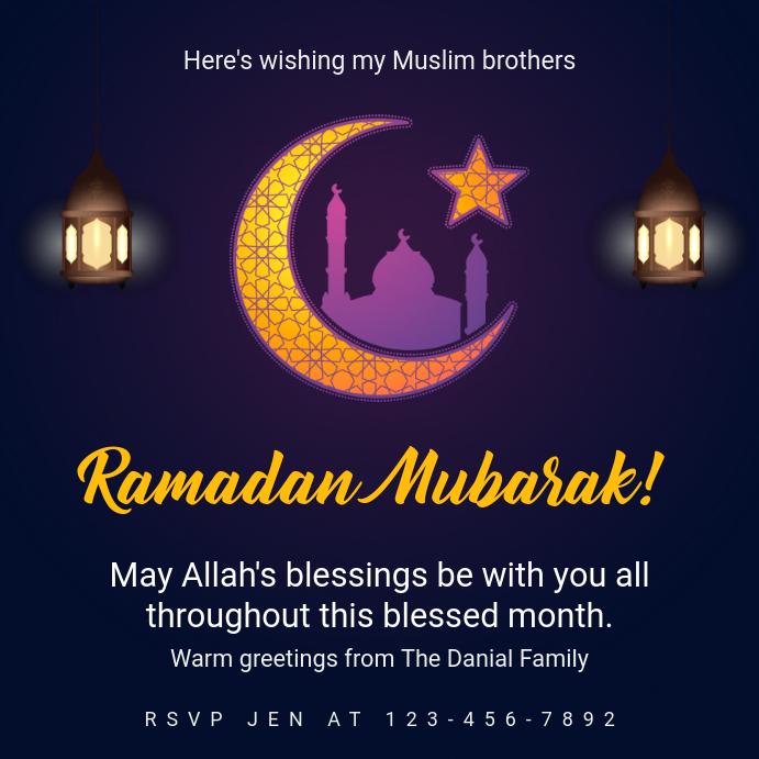 Creative Ramadan Charity Event Invitation