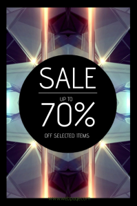 creative sale poster template