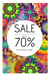 creative sale poster template