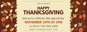 Creative Thanksgiving Dinner Invitation Facebook Cover