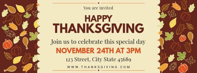 Creative Thanksgiving Dinner Invitation Facebook Cover