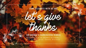 Creative Thanksgiving Wish Facebook Cover Video Template