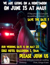 Creative wedding invitation template Flyer (US Letter)