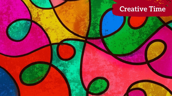 creative Zoom backgrounds Digital Display (16:9) template