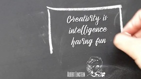 Creativity intelligence inspirational quote Video Sampul Facebook (16:9) template