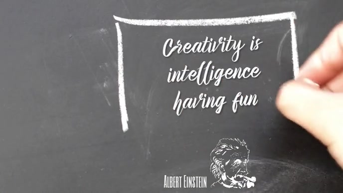 Creativity intelligence inspirational quote Facebook Cover Video (16:9) template