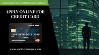 Credit Card Application Digital Signage 数字显示屏 (16:9) template