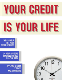 CREDIT Flyer (format US Letter) template