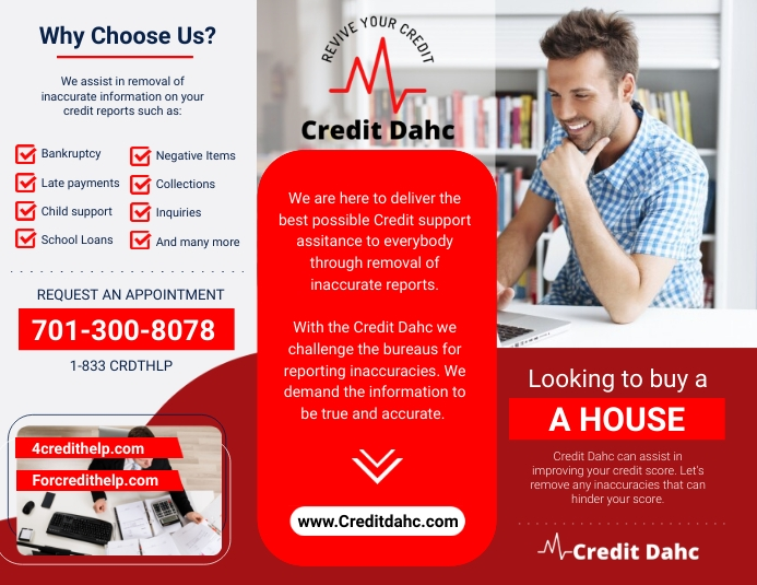 Credits Ads Pamflet (Letter AS) template