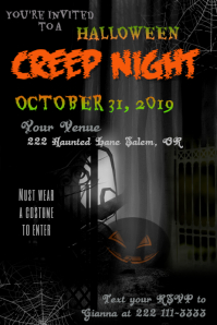 Creep Night Event Poster